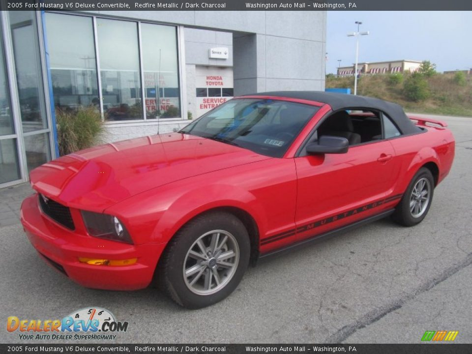 2005 ford mustang v6 deluxe convertible redfire metallic. Black Bedroom Furniture Sets. Home Design Ideas