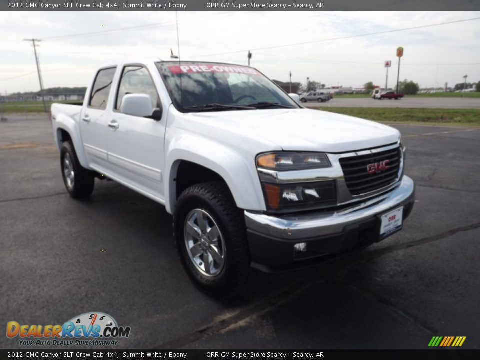 2012 gmc canyon slt crew cab 4x4 summit white ebony photo 3. Black Bedroom Furniture Sets. Home Design Ideas