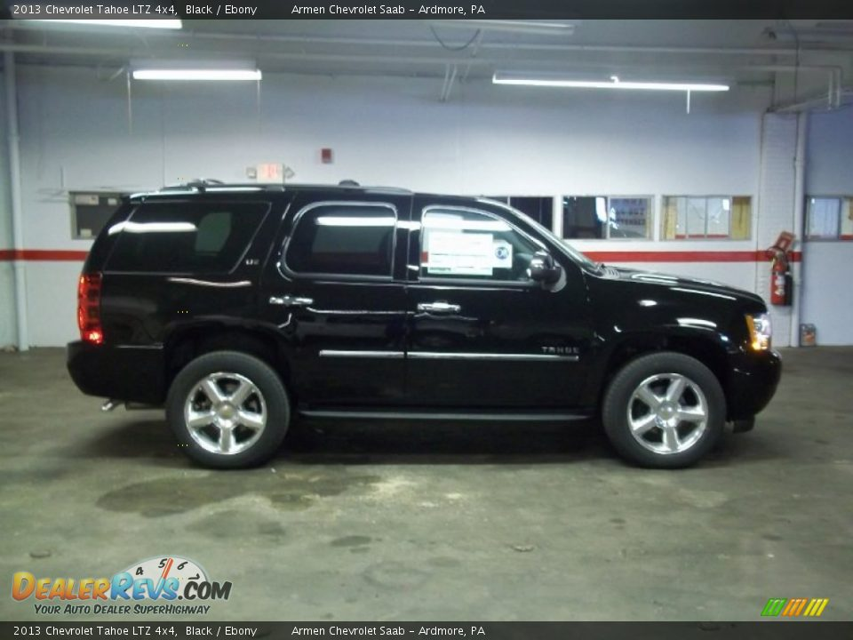 2013 chevrolet tahoe ltz 4x4 black ebony photo 4. Black Bedroom Furniture Sets. Home Design Ideas