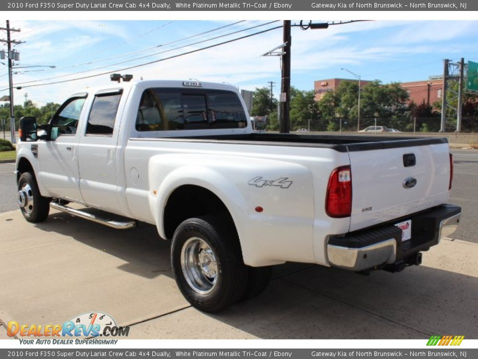 2010 ford f350 super duty lariat crew cab 4x4 dually white. Black Bedroom Furniture Sets. Home Design Ideas