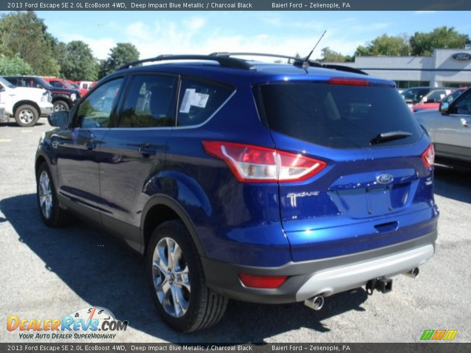 2013 ford escape se 2 0l ecoboost 4wd deep impact blue metallic charcoal black photo 6. Black Bedroom Furniture Sets. Home Design Ideas
