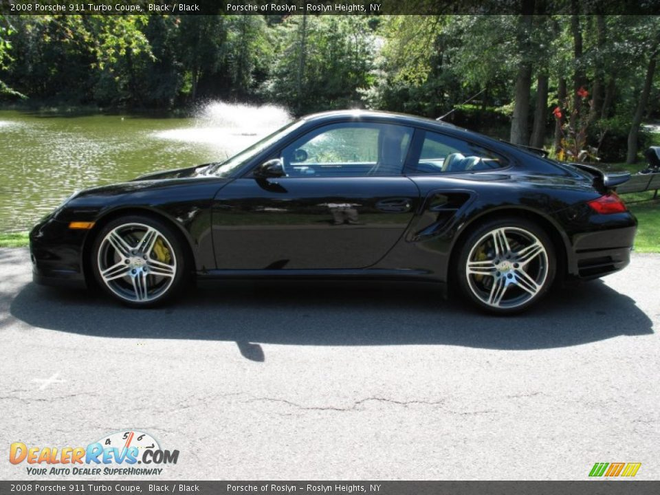 2008 porsche 911 turbo coupe black black photo 3. Black Bedroom Furniture Sets. Home Design Ideas