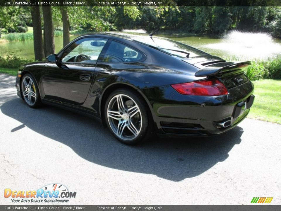 2008 porsche 911 turbo coupe black black photo 4. Black Bedroom Furniture Sets. Home Design Ideas