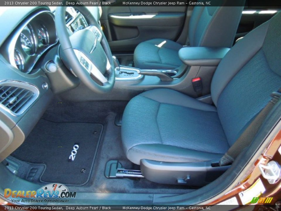 black interior 2013 chrysler 200 touring sedan photo 8. Black Bedroom Furniture Sets. Home Design Ideas
