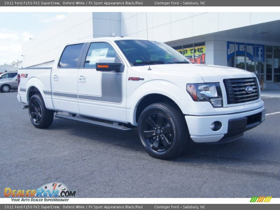 2012 ford f150 fx2 supercrew oxford white fx sport appearance black red photo 1. Black Bedroom Furniture Sets. Home Design Ideas