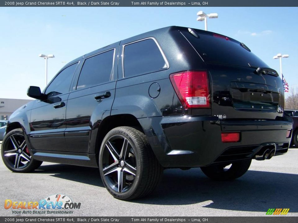 2008 jeep grand cherokee srt8 4x4 black dark slate gray photo 8. Black Bedroom Furniture Sets. Home Design Ideas