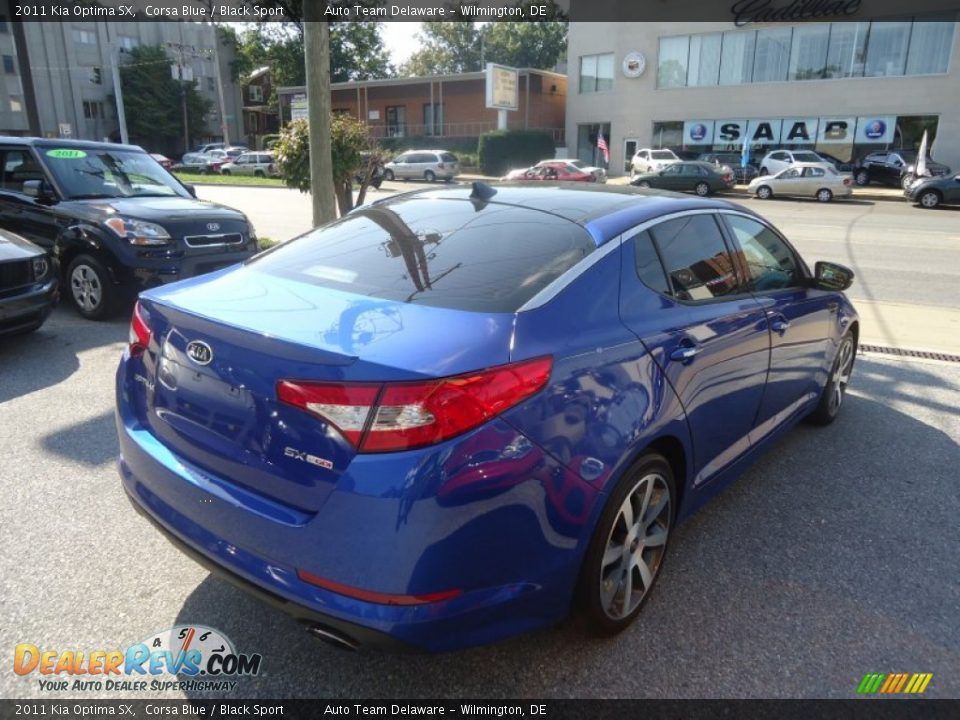 2011 kia optima sx corsa blue black sport photo 6. Black Bedroom Furniture Sets. Home Design Ideas