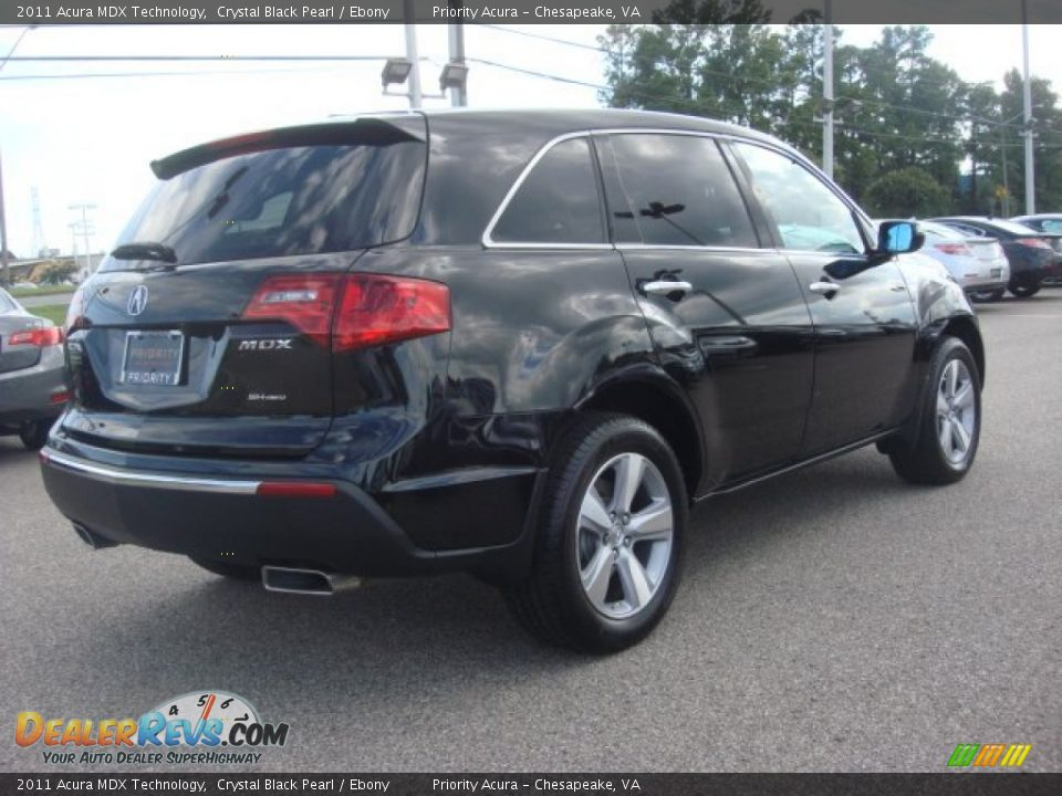 2011 acura mdx technology crystal black pearl ebony photo 6 dealerrevs com