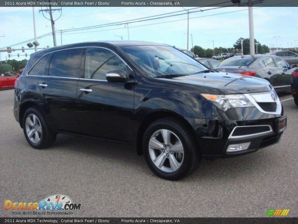 2011 Acura MDX Technology Crystal Black Pearl / Ebony Photo #7 | DealerRevs.com