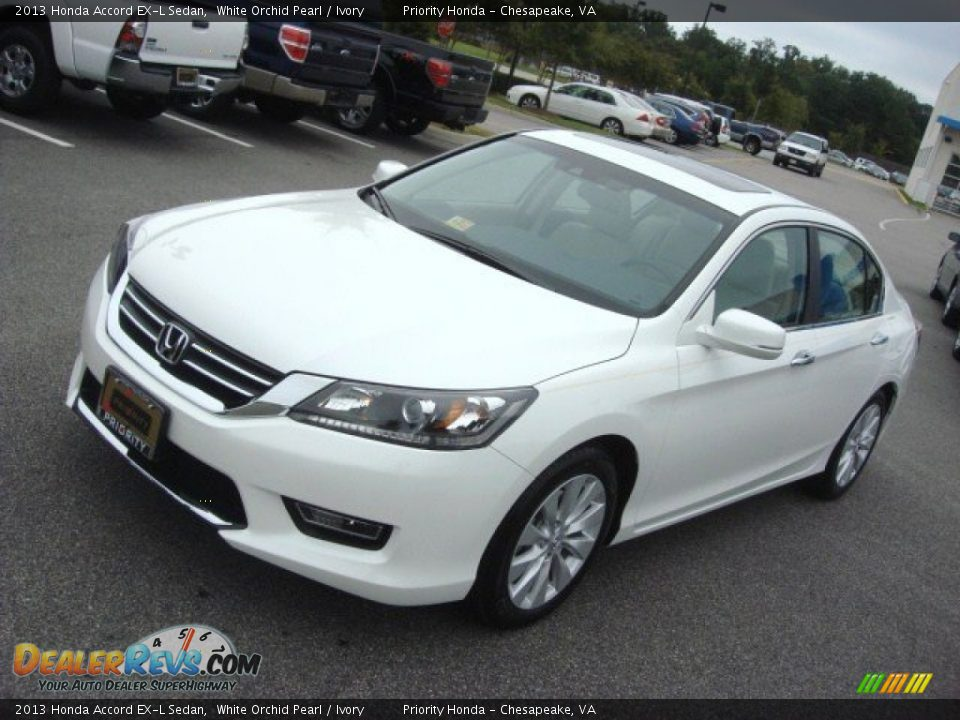 2013 honda accord ex l v6 coupe white orchid pearl color for Honda accord exl 2013