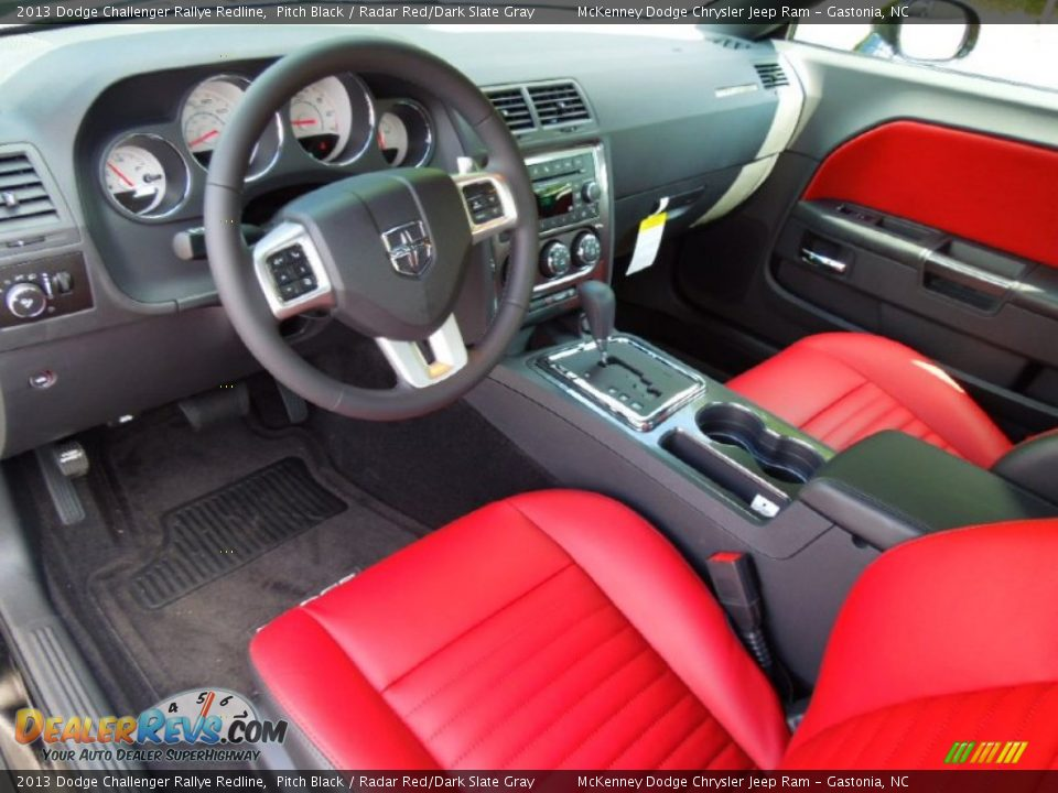 radar red dark slate gray interior 2013 dodge challenger rallye redline photo 24. Black Bedroom Furniture Sets. Home Design Ideas