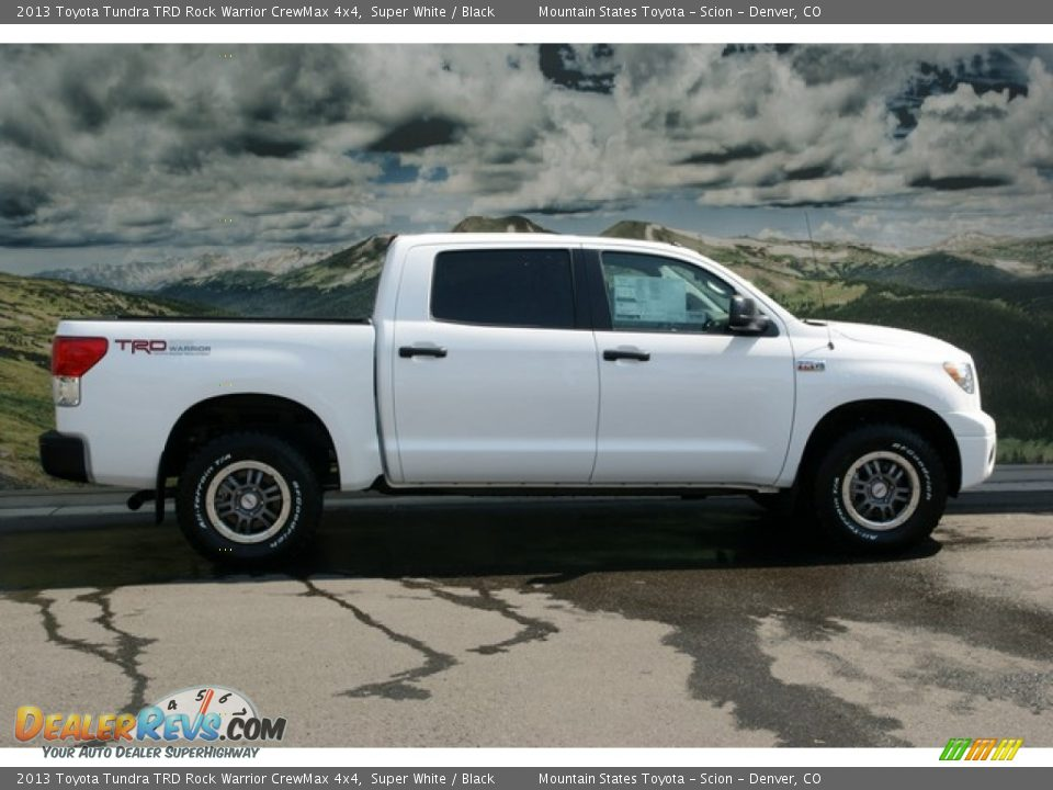 2013 toyota tundra trd rock warrior crewmax 4x4 super white black photo 2. Black Bedroom Furniture Sets. Home Design Ideas