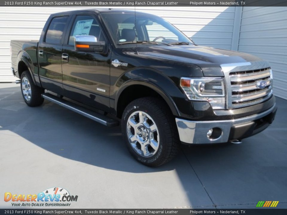 2013 ford f150 king ranch supercrew 4x4 tuxedo black metallic king ranch chaparral leather. Black Bedroom Furniture Sets. Home Design Ideas