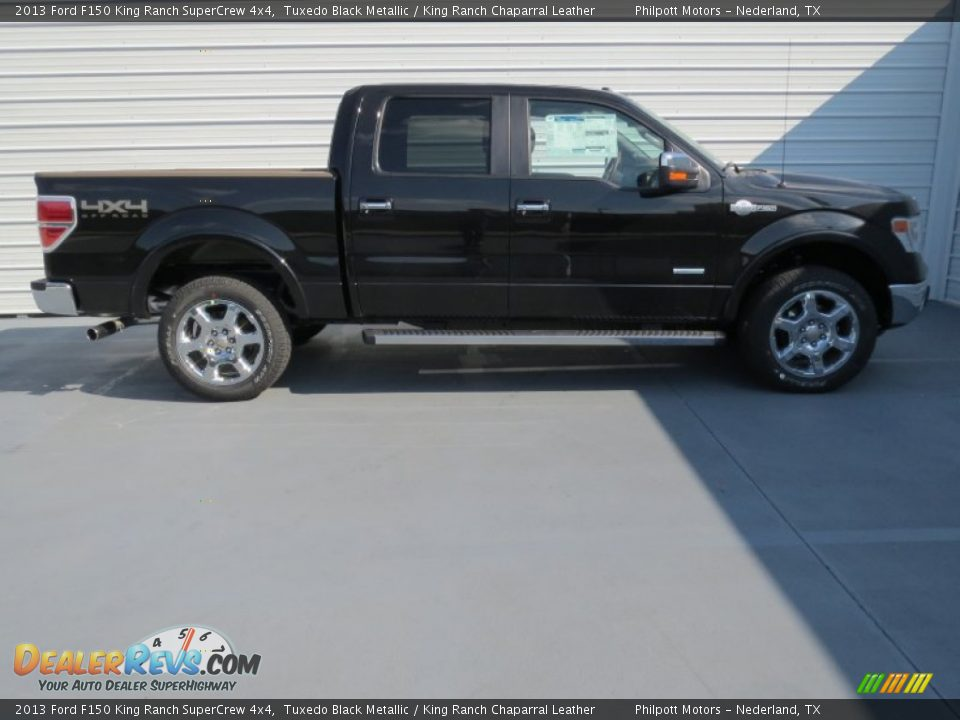 tuxedo black metallic 2013 ford f150 king ranch supercrew 4x4 photo 2. Black Bedroom Furniture Sets. Home Design Ideas