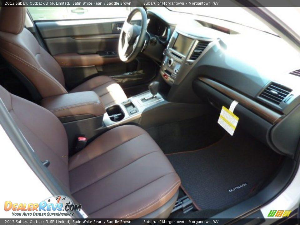 Saddle Brown Interior 2013 Subaru Outback 36r Limited Photo 9