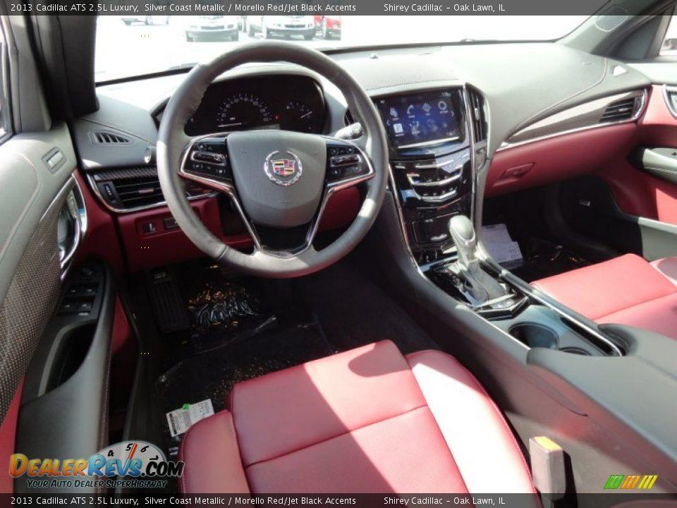 Morello Red Jet Black Accents Interior 2013 Cadillac Ats 2 5l Luxury Photo 9