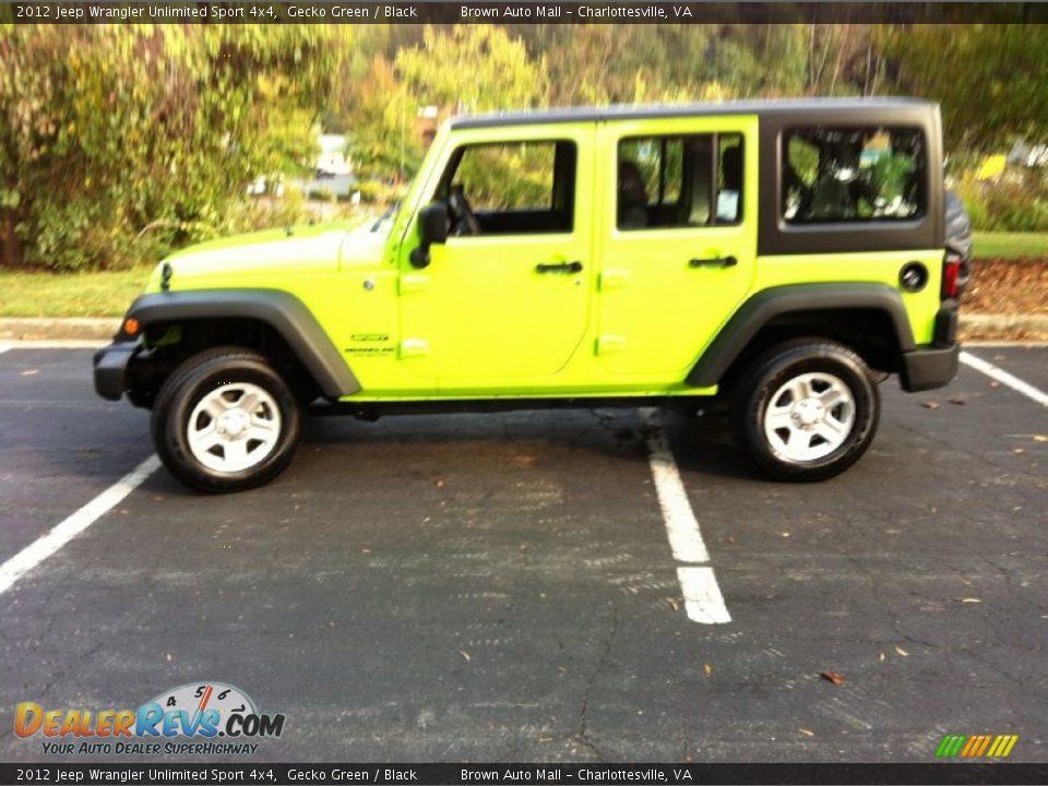 2012 Jeep Wrangler Unlimited Sport 4x4 Gecko Green Black