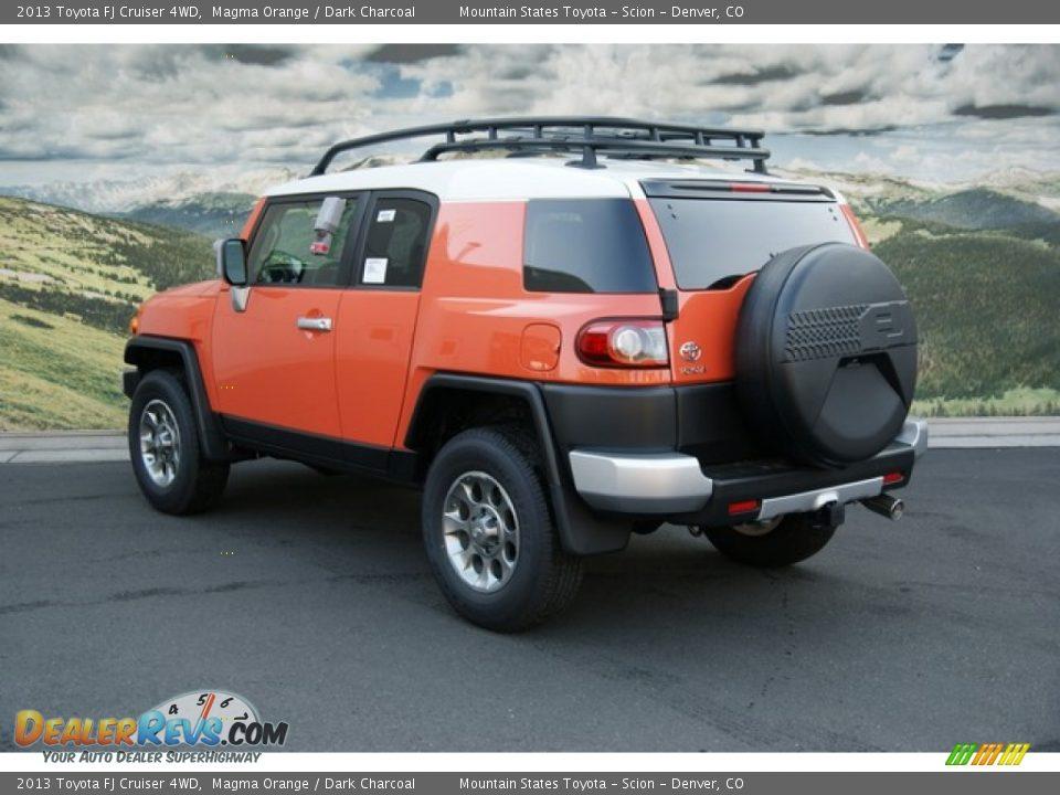 2013 Toyota Fj Cruiser 4wd Magma Orange Dark Charcoal