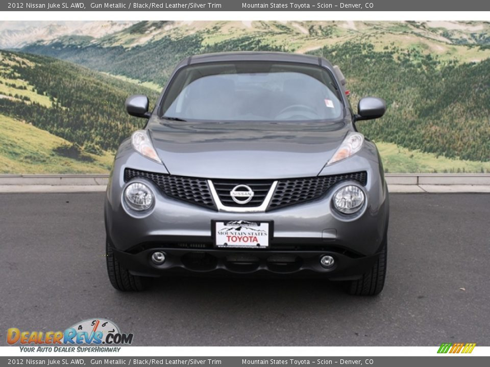 2012 Nissan Juke SL AWD Gun Metallic / Black/Red Leather/Silver Trim Photo #6