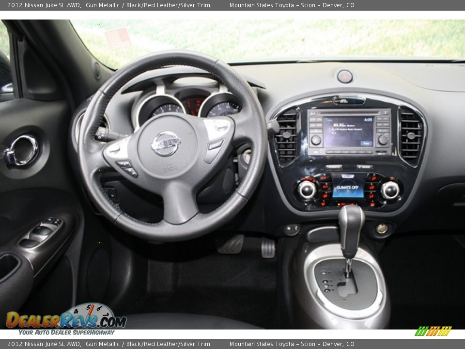2012 Nissan Juke SL AWD Gun Metallic / Black/Red Leather/Silver Trim Photo #9
