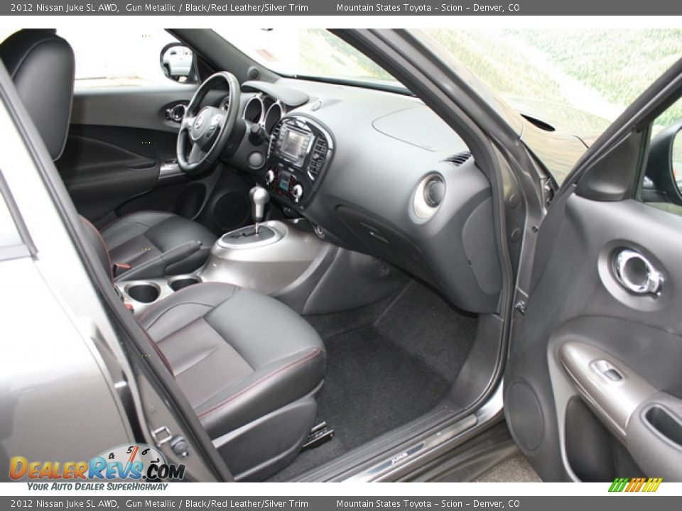 2012 Nissan Juke SL AWD Gun Metallic / Black/Red Leather/Silver Trim Photo #12