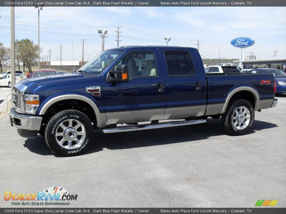 2009 ford f250 super duty lariat crew cab 4x4 dark blue pearl metallic camel photo 3. Black Bedroom Furniture Sets. Home Design Ideas