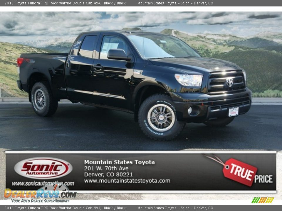2013 toyota tundra trd rock warrior double cab 4x4 black black photo 1. Black Bedroom Furniture Sets. Home Design Ideas