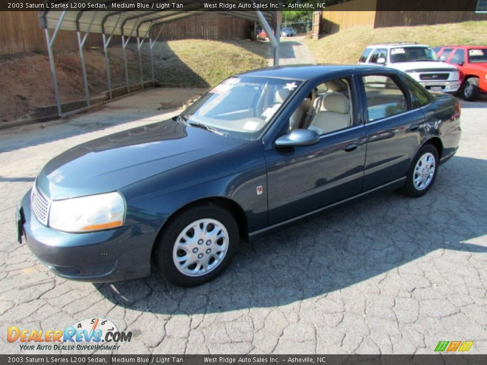 2003 saturn l series l200 sedan medium blue light tan photo 10. Black Bedroom Furniture Sets. Home Design Ideas