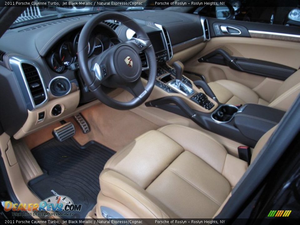 Natural espresso cognac interior 2011 porsche cayenne turbo photo 12 dealerrevs com