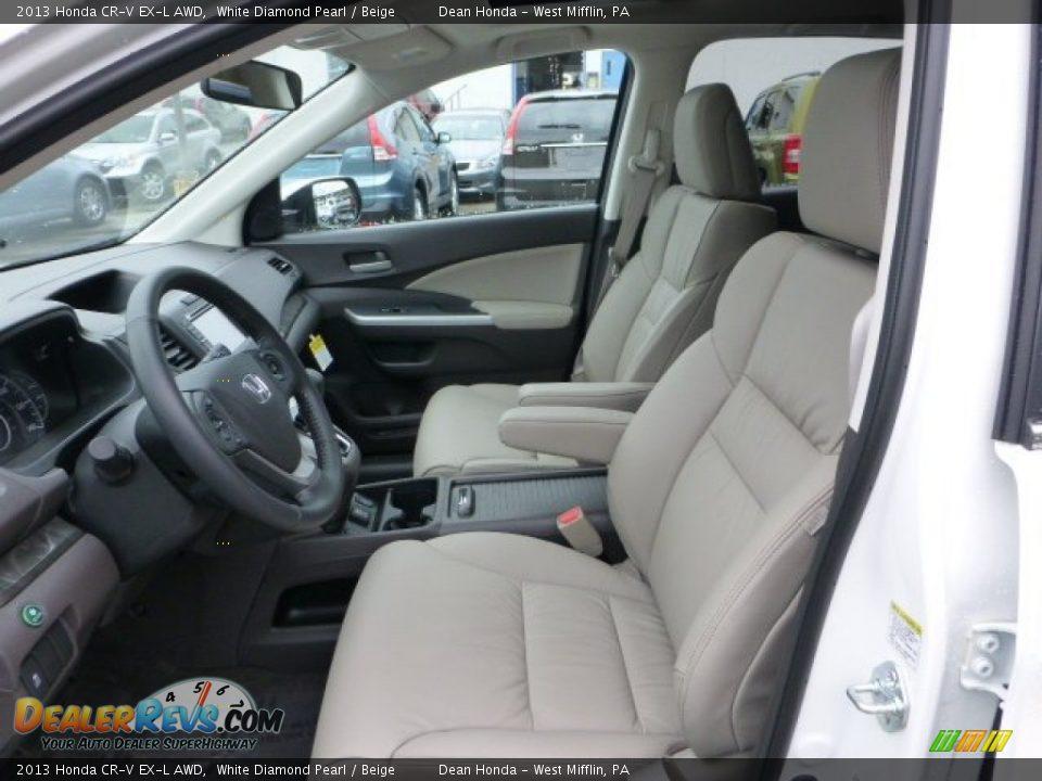 Beige interior 2013 honda cr v ex l awd photo 10 for Honda cr v 2013 interior