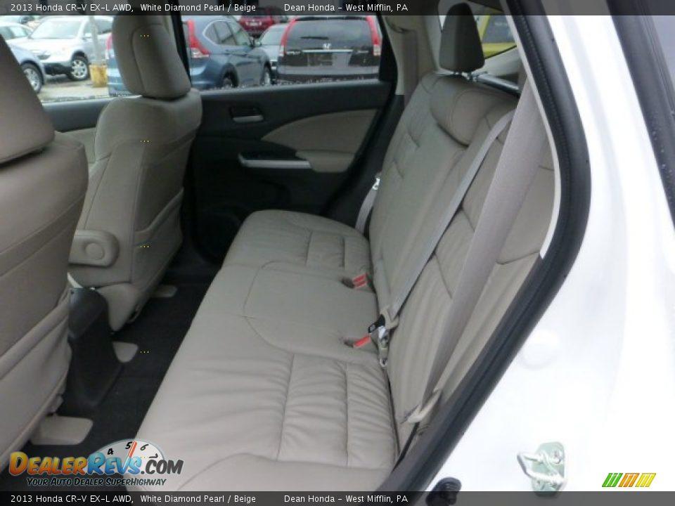 Beige Interior - 2013 Honda CR-V EX-L AWD Photo #11