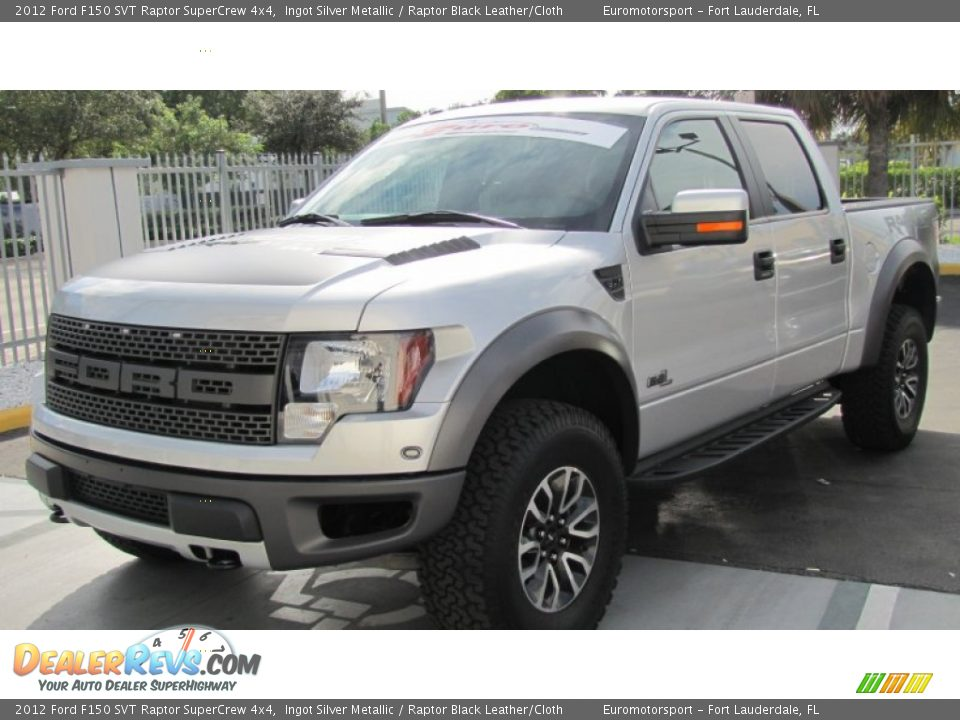 2012 ford f150 svt raptor supercrew 4x4 ingot silver metallic raptor black leather cloth photo. Black Bedroom Furniture Sets. Home Design Ideas
