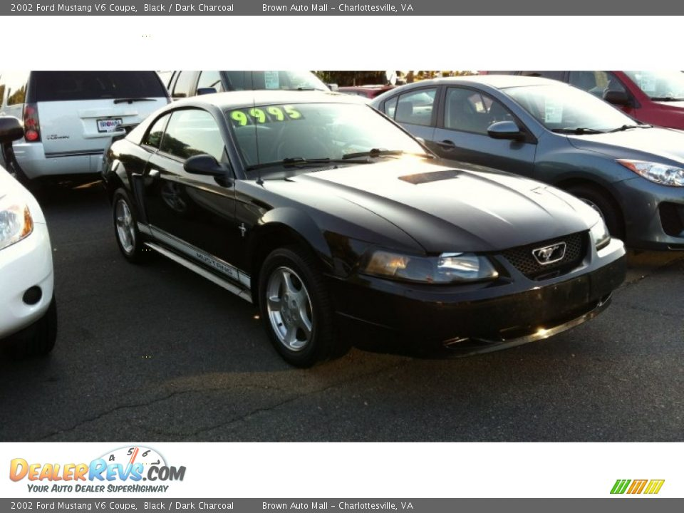 2002 Ford Mustang V6 Coupe Black Dark Charcoal Photo 1