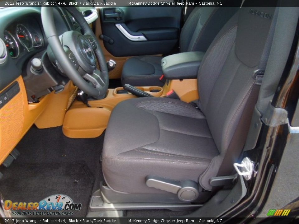 Black Dark Saddle Interior 2013 Jeep Wrangler Rubicon 4x4 Photo 9