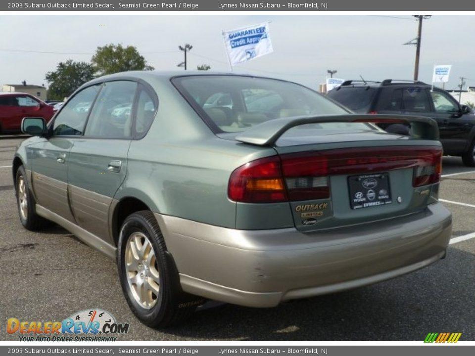 2003 subaru outback limited sedan seamist green pearl