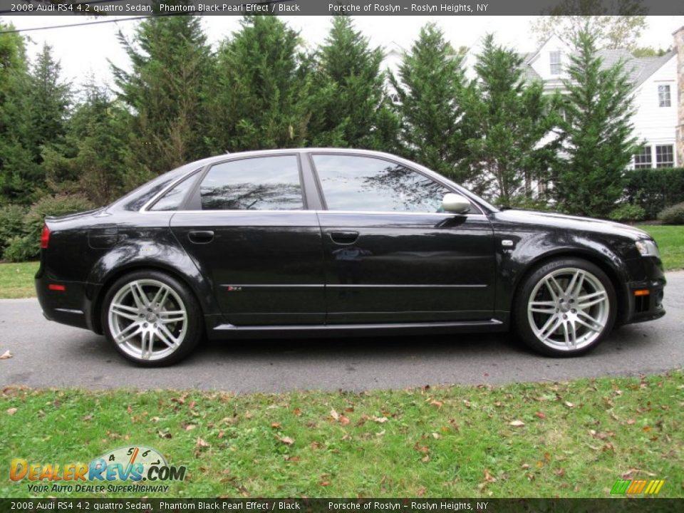 Phantom Black Pearl Effect 2008 Audi Rs4 4 2 Quattro Sedan