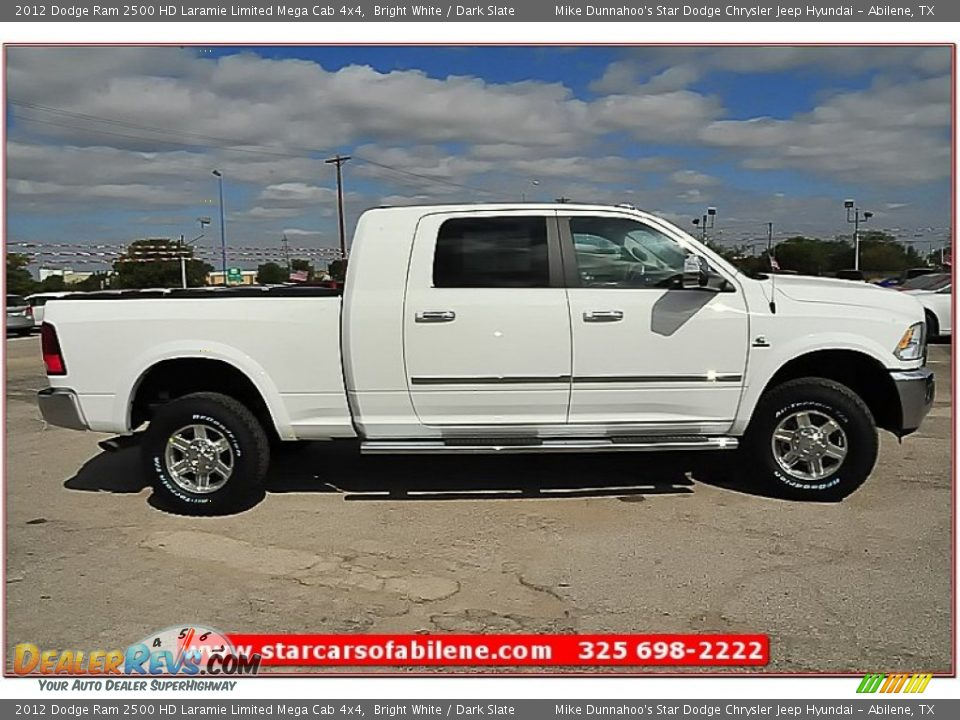 2012 dodge ram 2500 hd laramie limited mega cab 4x4 bright white dark slate photo 7. Black Bedroom Furniture Sets. Home Design Ideas