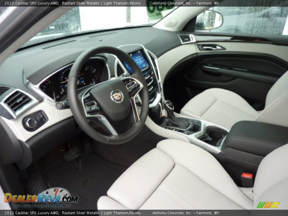 Light Titanium Ebony Interior 2013 Cadillac Srx Luxury