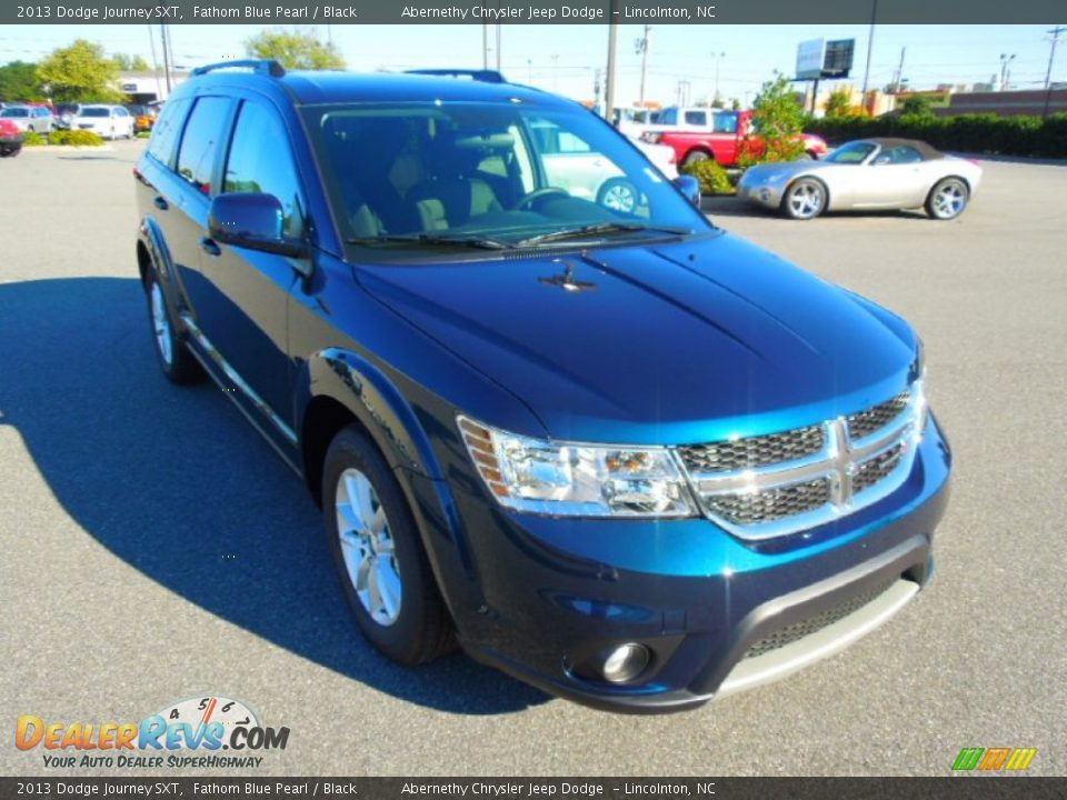 2013 dodge journey sxt fathom blue pearl black photo 2
