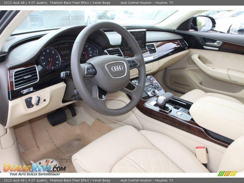 Velvet Beige Interior 2013 Audi A8 L 4 0t Quattro Photo