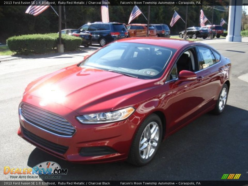 2013 ford fusion se 1 6 ecoboost ruby red metallic charcoal black photo 4. Black Bedroom Furniture Sets. Home Design Ideas