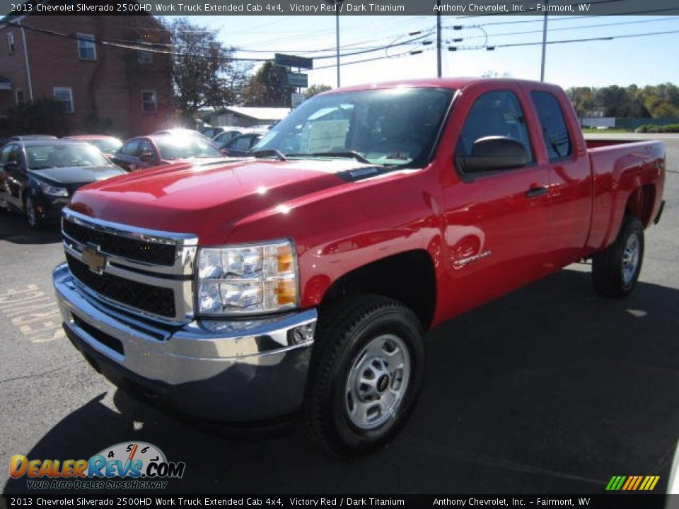 2013 chevrolet silverado 2500hd work truck extended cab 4x4 victory red dark titanium photo 3. Black Bedroom Furniture Sets. Home Design Ideas