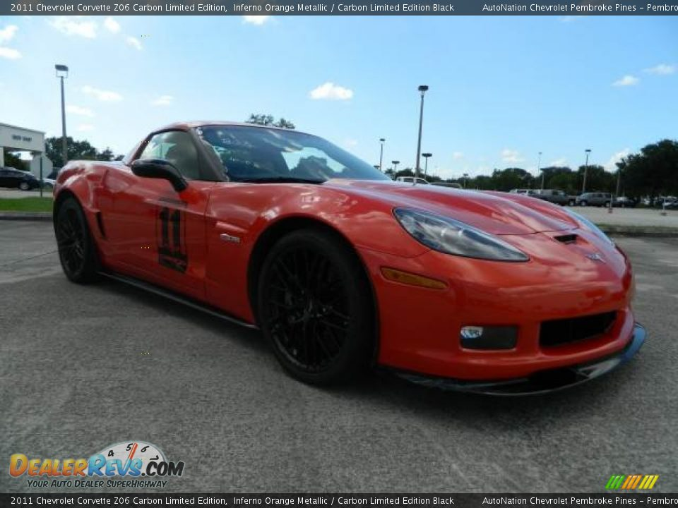 2011 chevrolet corvette z06 carbon limited edition inferno orange metallic carbon limited