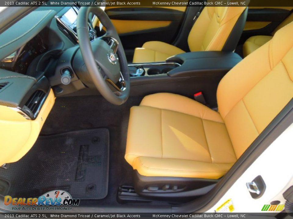 Caramel/Jet Black Accents Interior - 2013 Cadillac ATS 2.5L Photo #8
