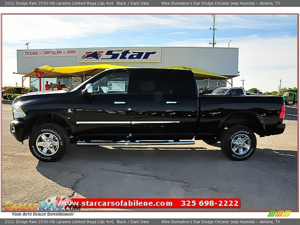 2012 dodge ram 2500 hd laramie limited mega cab 4x4 black dark slate photo 3. Black Bedroom Furniture Sets. Home Design Ideas