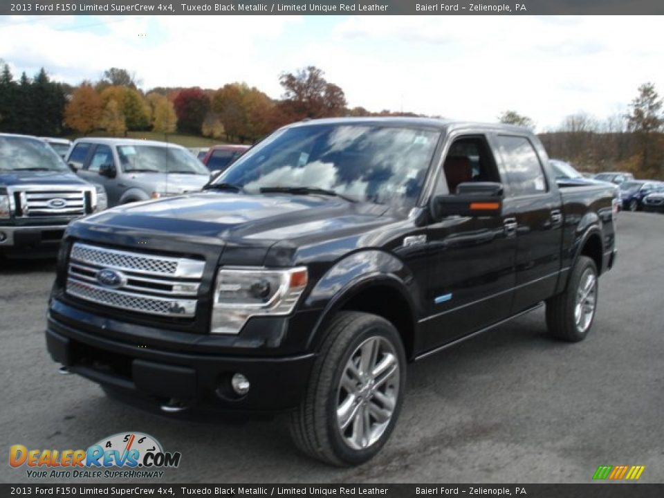 2013 ford f150 limited supercrew 4x4 tuxedo black metallic limited unique red leather photo 4. Black Bedroom Furniture Sets. Home Design Ideas