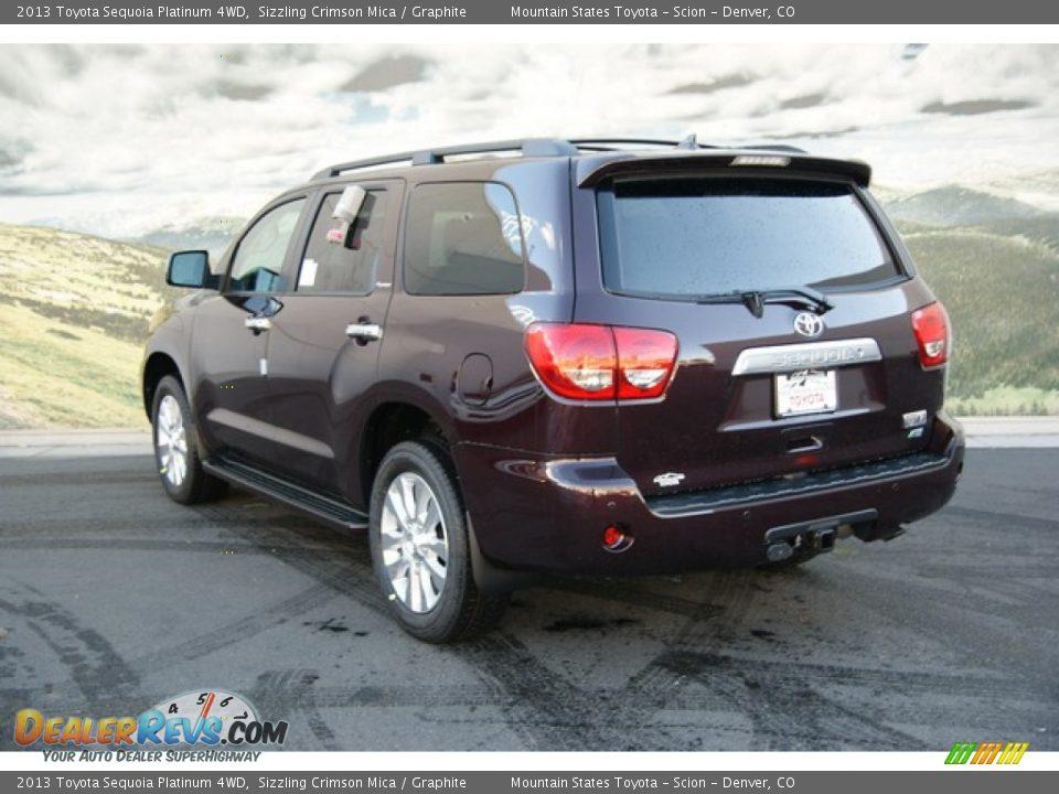 2013 Toyota Sequoia Platinum 4wd Sizzling Crimson Mica