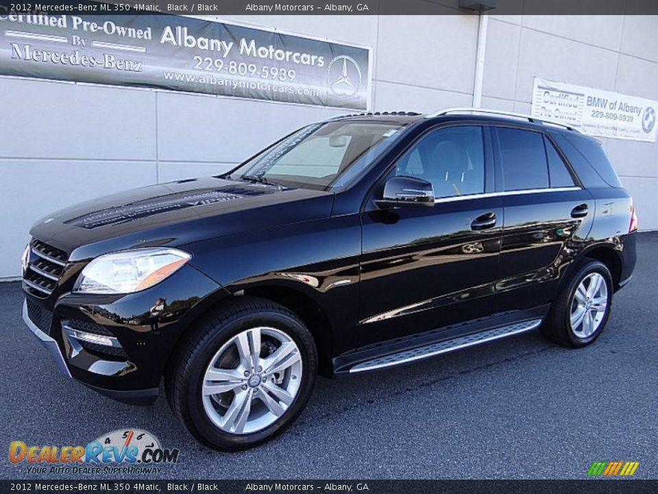 2012 Mercedes Benz Ml 350 4matic Black Black Photo 2