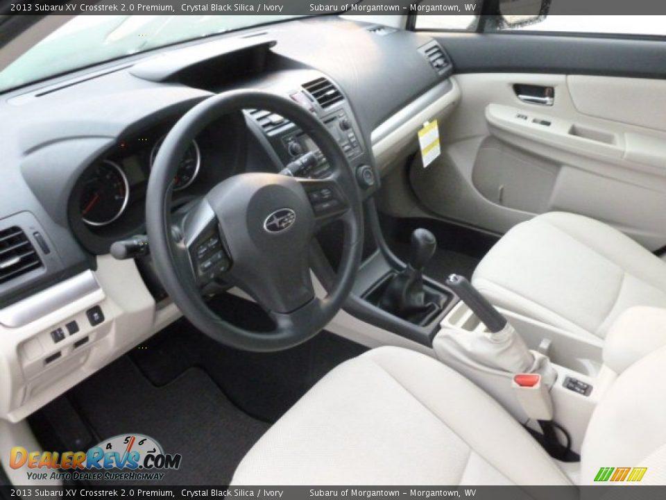 Ivory Interior 2013 Subaru Xv Crosstrek 2 0 Premium