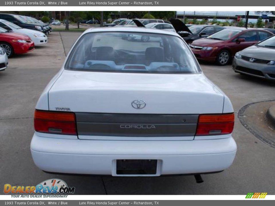 1993 Toyota Corolla DX White / Blue Photo #6 | DealerRevs com